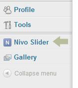 Nivo Slider on the WordPress menu